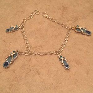 Flip Flop bracelet / anklet